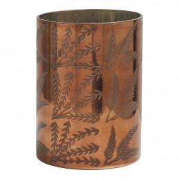 Vase Feuillage doré cuivré brillant