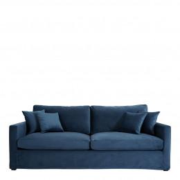 Canapé ANGIE velours bleu de minuit